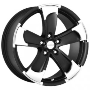 Radius R14 - Matt Black + Chrome Inserts
