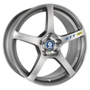 Sparco RTT 524 - Matt Silver Tech Diamond Cut