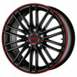 Mak Rapide - Matt Black Red Stripe