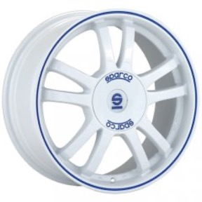 Sparco Rally - White Blue Lip