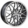 BBS RX-R - Matt Black Front Polished